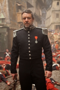 One of the most powerful character moments for Javert: among the dead revolutionaries.