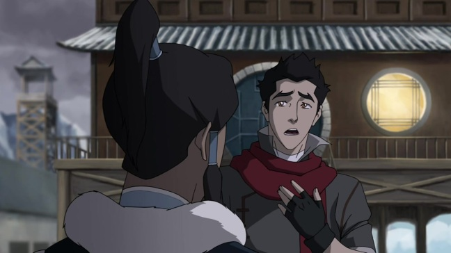 """Korra, look at my scarf. Look at my face. I'm gorgeous, you're gorgeous - we should date."""