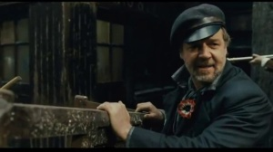 The only time Javert expresses happiness in the film is in the subversion of the law.