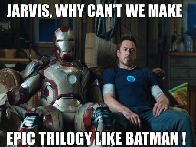 There is still only one Batman and his movies are done now. Time to move on from Iron Man as well I think.