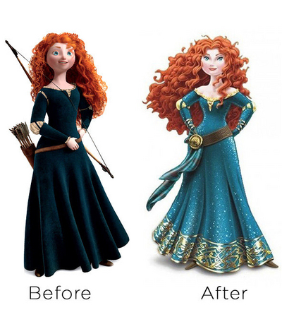 "Walt Disney's unveiled plans to ""redesign"" Merida."
