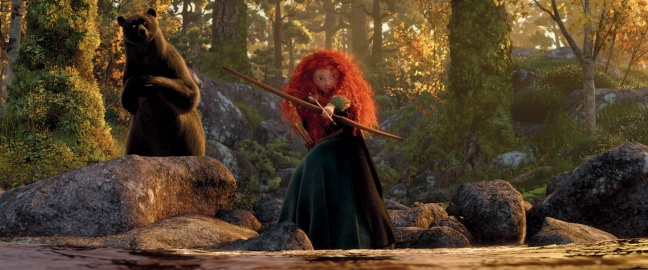 This could have been an image of profound empowerment where mother and daughter realized they both knew how to live in an unfair world. Instead it's another moment of Merida showing up her mother.