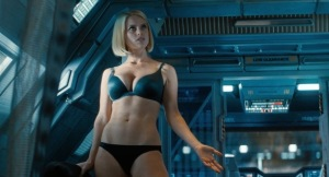 "Of course she is still a sex symbol and yeah... underwear. I think there will be an article in the future addressing what is becoming a serious problem with the portrayal of women in ""mainstream"" action films."