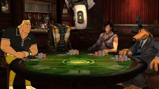 The cast of Telltale's Poker Night 2