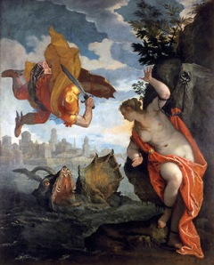 Painting depicting Perseus and Andromeda.