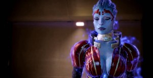 Samara from the Mass Effect Trilogy, a series that prides itself on its characters. My brothers and I had a nickname for her: Officer Side-Boob.