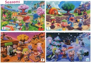 Just like in real life, there are different seasons in Animal Crossing. I will have to wait till December to experience December in the game. No other game does this.