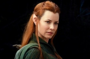 It's Evangeline Lilly as an elf. Damn.