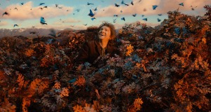 Bilbo Baggins is as much a part of the scenery in this movie as those blue butterflies.