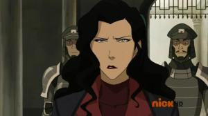 Asami looking both hurt and angry at Mako's inability to be mature and decide his relationships.