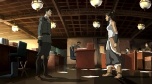 The final argument that breaks up Korra and Mako. Told you it was a common pose.