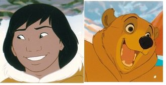 Kenai's transformation as a man is what drives the film. The visual change is a nice touch.
