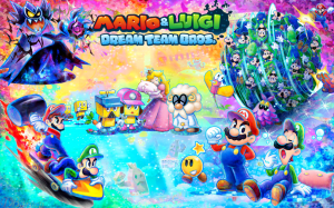 Yes, it certainly looks like Luigi is front and center here. Oh look, I didn't know this was a Princess Peach game too!