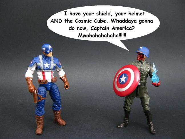 On the same level as the majority of the Red Skull's dialogue.
