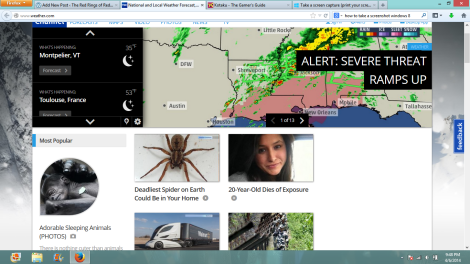 Thank god I know about that spider, seriously.