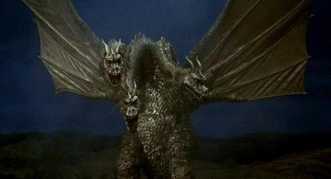 With three, lightning-shooting heads and the ability to fly, Ghidorah was a powerful enemy.