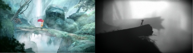 Both games drop the protagonist into larger than life forests, where the player must survive against the creatures who live there.