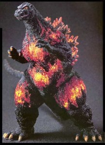 Godzilla can barely contain all of his power in this movie.