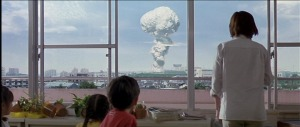 Godzilla's atomic breath leaves striking imagery in this film.