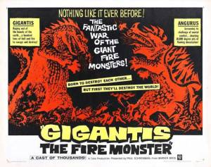 Fun fact: the United States changed the title of Godzilla Raids Again to Gigantis: the Fire Monster. They didn't think anyone would want to see a 2nd Godzilla movie. Thirty films later...