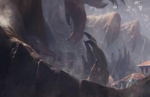 This image was from the initial teaser. Evidently there was a monster design that went unused.
