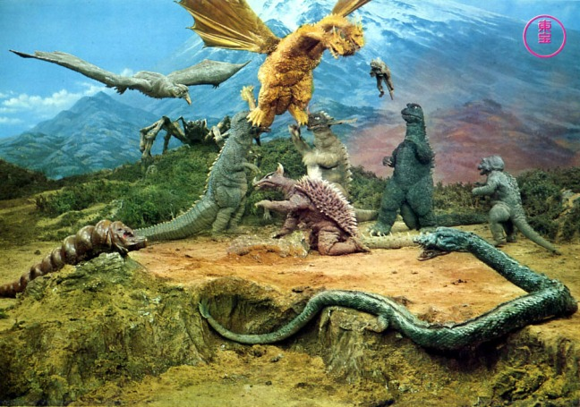 Ghidorah would return many times, including to fight in Destroy All Monsters. Don't ask me for allegory on that one.
