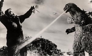 King Kong was seen as the underdog of the fight while Godzilla was depicted as a stupid bully.