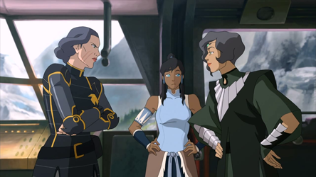 "Legend of Korra is one of the first in the ""animated drama"" genre, and book three took the series to new heights of maturity, exploring adult themes including the relationship between Lin Bei Fong and her half-sister."