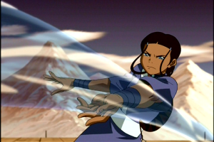 Katara's fighting abilities grew as the show progressed. By series' end, she was the strongest waterbender present.