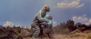 Minilla seen here solving his own bullying problem. Looks like it is going great!