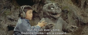 Sounds to me like Godzilla is being really judgmental.