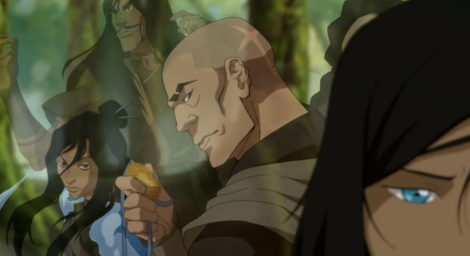 """Listen, [Visions of Amon, Unalaq, and the Red Lotus appear as the camera pans from Toph to Korra.] what did Amon want? Equality for all. Unalaq? He brought back the spirits. And Zaheer believed in freedom. The problem was, those guys were totally out of balance and they took their ideologies too far."" The Legend of Korra is an excellent show when it comes to illustrating mental growth and recovering from abuse."