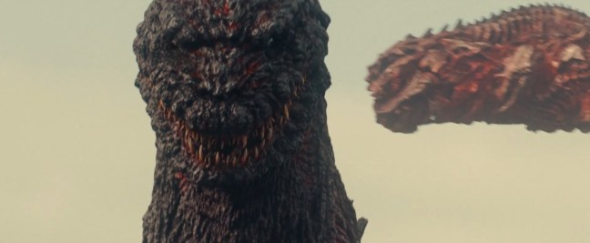 The new Godzilla is grotesque, with large chunks of exposed muscle tissue and bone, not to mention a multitude of sharp dagger teeth.